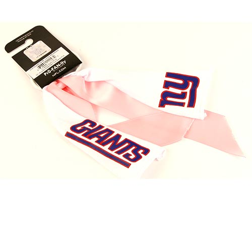 Pro-fanity New York Giants Pink/white Ribbon PonyTail Holder - New York Giants Pink/White Ribbon PonyTail Holder Thank you for visiting CrazedOutSports.com
