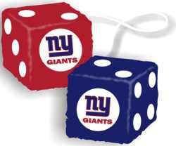 N/A New York Giants Fuzzy Dice - New York Giants Fuzzy Dice Officially licensed NFL product Licensee: Siskiyou Buckle .com