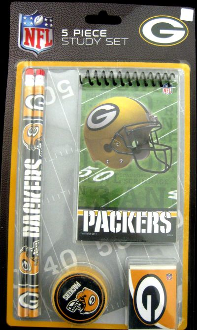 National Design Green Bay Packers Five-Piece Stationary Set - Green Bay Packers Five-Piece Stationary Set Thank you for visiting CrazedOutSports.com